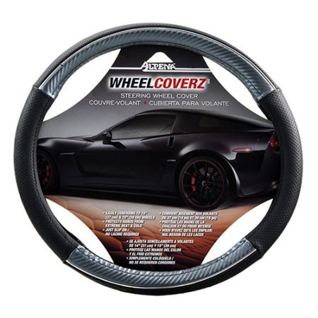 Silver Carbon Silver Steering Wheel Cover